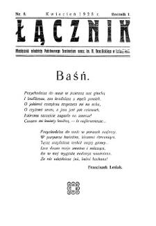 Łącznik : miesięcznik młodzieży Państwowego Seminarium Nauczycielskiego im.Mieczysława Brzezińskiego w Leśnej Podlaskiej R. 1 (1928) nr 8 (kwiecień)