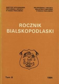Rocznik Bialskopodlaski. T. 2 (1994)