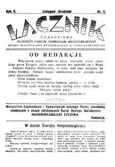 Łącznik : miesięcznik młodzieży Państwowego Seminarium Nauczycielskiego im.Mieczysława Brzezińskiego w Leśnej Podlaskiej R. 5 (1933) nr 2 (listopad/grudzień)