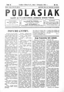 Podlasiak : tygodnik polityczno-społeczno-narodowy, poświęcony sprawom ludu podlaskiego R. 10 (1931) nr 36
