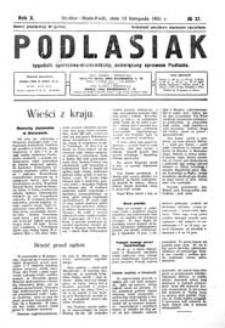 Podlasiak : tygodnik polityczno-społeczno-narodowy, poświęcony sprawom ludu podlaskiego R. 10 (1931) nr 37