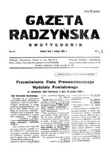 Gazeta Radzyńska R. 3 (1935) nr 2