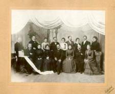 Organizatorzy i członkowie teatru amatorskiego w Białej Podlaskiej