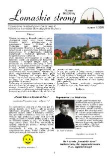 Łomaskie Strony : biuletyn mieszkańców Łomaz i okolic R. 1 (2009) nr 1