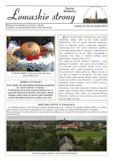 Łomaskie Strony : biuletyn mieszkańców Łomaz i okolic R. 4 (2012) nr 9 (35)