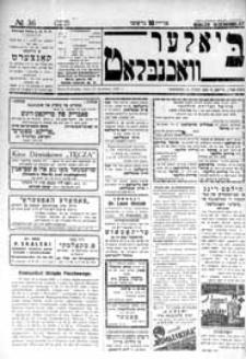 Bialer Wochenblat : organ fur der cjonistyszer organizacje in Bialer Podlaska R. 2 (1935) nr 36