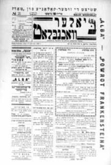 Bialer Wochenblat : organ fur der cjonistyszer organizacje in Bialer Podlaska R. 3 (1936) nr 21