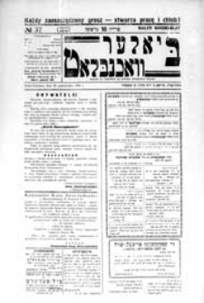 Bialer Wochenblat : organ fur der cjonistyszer organizacje in Bialer Podlaska R. 3 (1936) nr 37