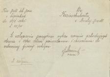 Pismo kierownika szkoły w Lipinkach do Kreisschulratu w Białej Podlaskiej dot. potrzeby zakupu obuwia przez uczniów obuwia p