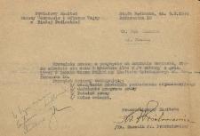 Zaproszenie Powiatowego Komitetu Pomocy Warszawie i Ofiarom Wojny w Białej Podlaskiej na zebranie komitetu skierowane do Jana Makaruka