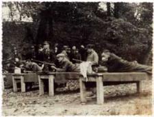 Zawody strzeleckie na strzelnicy w Parku Radziwiłłowskim w Białej Podlaskiej