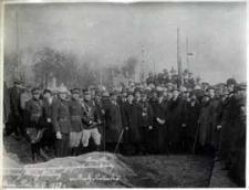 Uroczystość poświęcenia kamienia węgielnego pod budowę remizy Ochotniczej Straży Pożarnej w Białej Podlaskiej