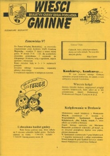 Wieści Gminne : biuletyn Urzędu Gminy w Białej Podlaskiej R. 3 (1997) nr 1