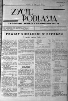 Życie Podlasia: pismo społeczno-gospodarcze R. 3 (1936) nr 44 (131)