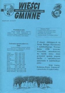 Wieści Gminne : biuletyn Urzędu Gminy w Białej Podlaskiej R. 3 (1997) nr 12