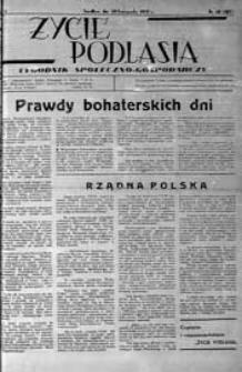 Życie Podlasia: pismo społeczno-gospodarcze R. 4 (1937) nr 48 (187)