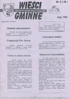 Wieści Gminne : biuletyn Urzędu Gminy w Białej Podlaskiej R. 4 (1998) nr 2