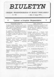 Biuletyn Urzędu Wojewódzkiego w Białej Podlaskiej R. 2 (1995) nr 7