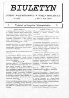 Biuletyn Urzędu Wojewódzkiego w Białej Podlaskiej R. 2 (1995) nr 20