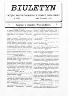 Biuletyn Urzędu Wojewódzkiego w Białej Podlaskiej R. 2 (1995) nr 23