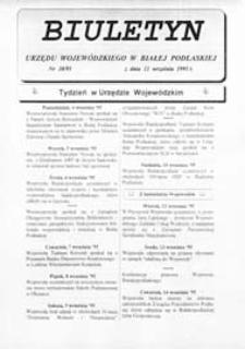 Biuletyn Urzędu Wojewódzkiego w Białej Podlaskiej R. 2 (1995) nr 30