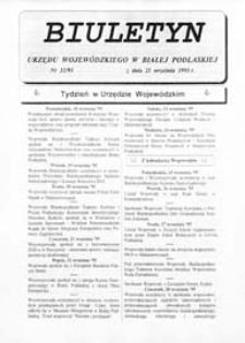 Biuletyn Urzędu Wojewódzkiego w Białej Podlaskiej R. 2 (1995) nr 32