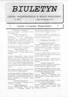 Biuletyn Urzędu Wojewódzkiego w Białej Podlaskiej R. 2 (1995) nr 40