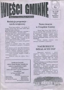 Wieści Gminne : biuletyn Urzędu Gminy w Białej Podlaskiej R. 4 (1998) nr 12