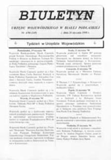 Biuletyn Urzędu Wojewódzkiego w Białej Podlaskiej R. 5 (1998) nr 4 (149)