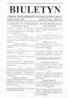 Biuletyn Urzędu Wojewódzkiego w Białej Podlaskiej R. 5 (1998)