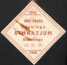300-lecie Męskiego Gimnazjum Bialskiego 1628-1928 : 23.IX.1928 : znaczek pamiątkowy