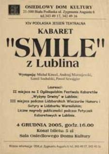 "Kabaret ""Smile"" z Lublina : afisz"
