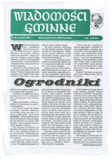 Wiadomości Gminne : miesięcznik gminy Biała Podlaska R. 3 (2001) nr 8