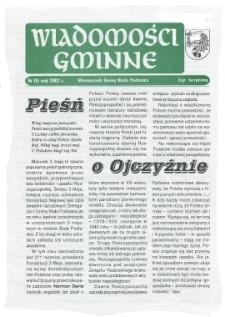 Wiadomości Gminne : miesięcznik gminy Biała Podlaska R. 4 (2002) nr 5
