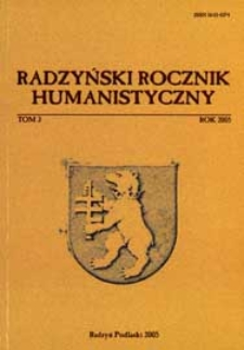 Radzyński Rocznik Humanistyczny T. 3 (2005)