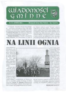 Wiadomości Gminne : miesięcznik gminy Biała Podlaska R. 5 (2003) nr 11