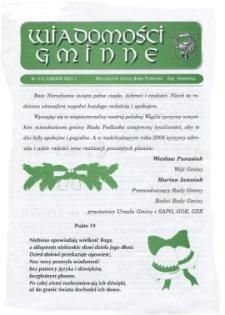 Wiadomości Gminne : miesięcznik gminy Biała Podlaska R. 5 (2003) nr 12