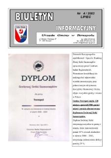 Biuletyn Informacyjny Urzędu Gminy w Terespolu R. 12 (2003) nr 4