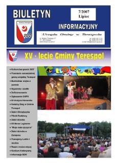 Biuletyn Informacyjny Urzędu Gminy w Terespolu R. 16 (2007) nr 7