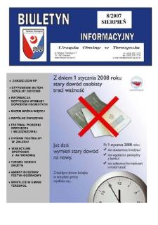 Biuletyn Informacyjny Urzędu Gminy w Terespolu R. 16 (2007) nr 8