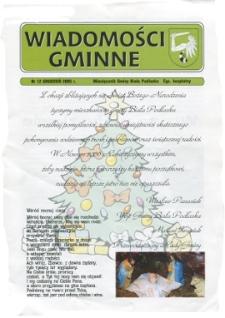 Wiadomości Gminne : miesięcznik gminy Biała Podlaska R. 7 (2005) nr 12