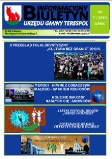 Biuletyn Informacyjny Urzędu Gminy w Terespolu R. 22 (2013) nr 7