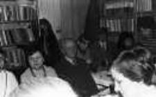 Spotkanie bibliotekarzy związane z odejściem na emeryturę Jerzego Kaczyńskiego -zastępcy dyr. Wojewódzkiej Biblioteki Publicznej w Białej Podlaskiej