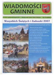 Wiadomości Gminne : miesięcznik gminy Biała Podlaska R. 9 (2007) nr 10-11