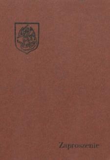 """Zaproszenie : [Inc.: ] Uroczyste podsumowanie konkursu pt.: """"Gdybym był pisarzem i malarzem"""", 1986"""