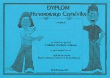 Druk ulotny : Dyplom Honorowego Czytelnika
