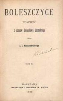 Boleszczyce : powieść z czasów Bolesława Szczodrego. T. 2
