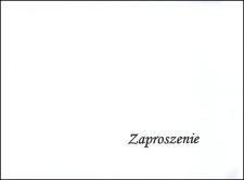 """Zaproszenie : Wystawa """"Na początku było słowo..."""" : poezja religijna od średniowiecza do współczesności"""", listopad 2009"""