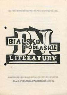 Druk ulotny : [Inc.:] V Bialskopodlaskie Dni Literatury 15-17 października 1980
