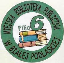 Druk ulotny : Logo Filii nr 6 Miejskiej Biblioteki Publicznej w Białej Podlaskiej